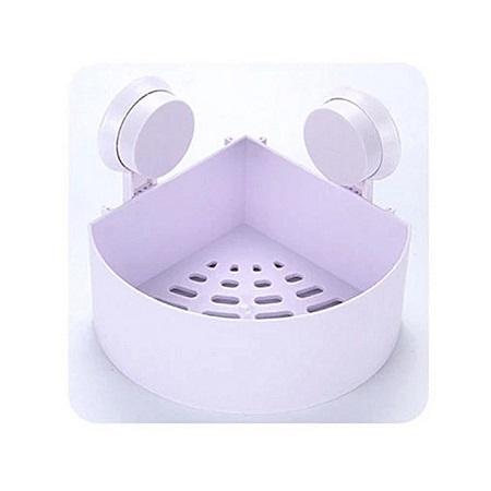 Generic Lilac Plastic Bathroom Organizer - Firm Sunction Cup