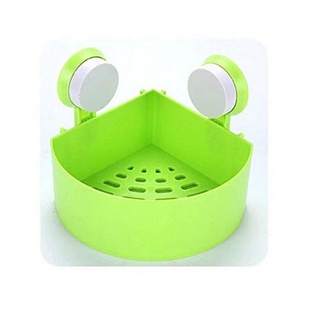 Generic Green Plastic Bathroom Organizer - Firm Sunction Cup