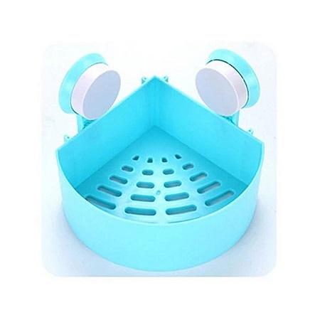 Generic Blue Plastic Bathroom Organizer - Sunction Cup