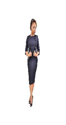 Womens Official Dress Suit - Navy Blue