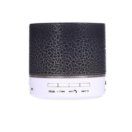 DEALFIT A9 Mini Wireless Bluetooth Round Speaker - Black