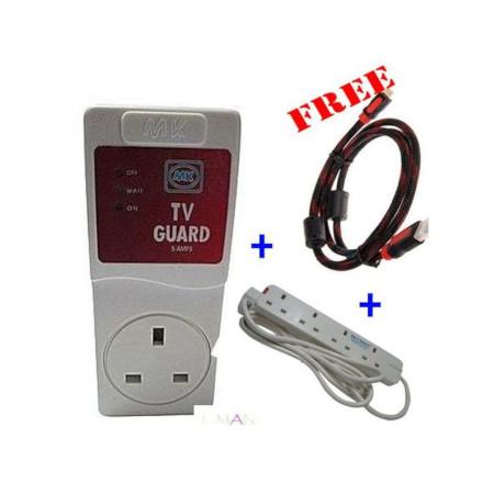 MK Electronics TV Guard + FREE 1.5M HDMI + 4 Way socket Extention