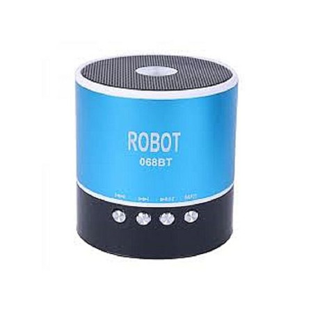 Robot Mini Bluetooth Wireless Stereo Speakers FM, Memory Card, Bluetooth, USB - Blue
