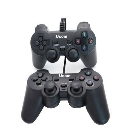 UCOM Double - PC USB Dualshock Game Controller Pad - Black