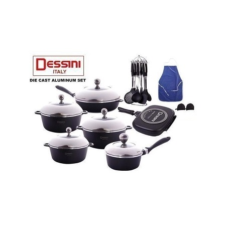 Dessini 23pcs Cookware set grey