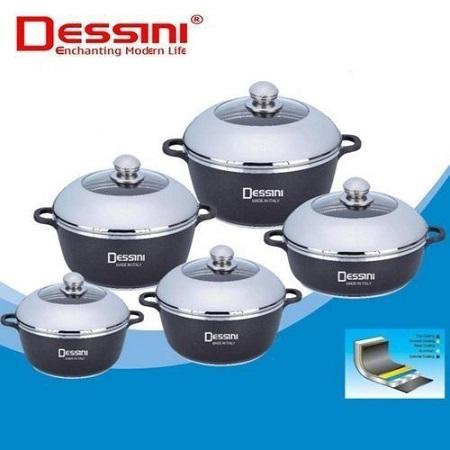 Dessini Non-Stick Cooking Pots Cookware set - 10pcs Dessini Die cast Set