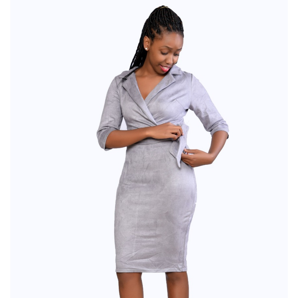Grey official  bodycon dress