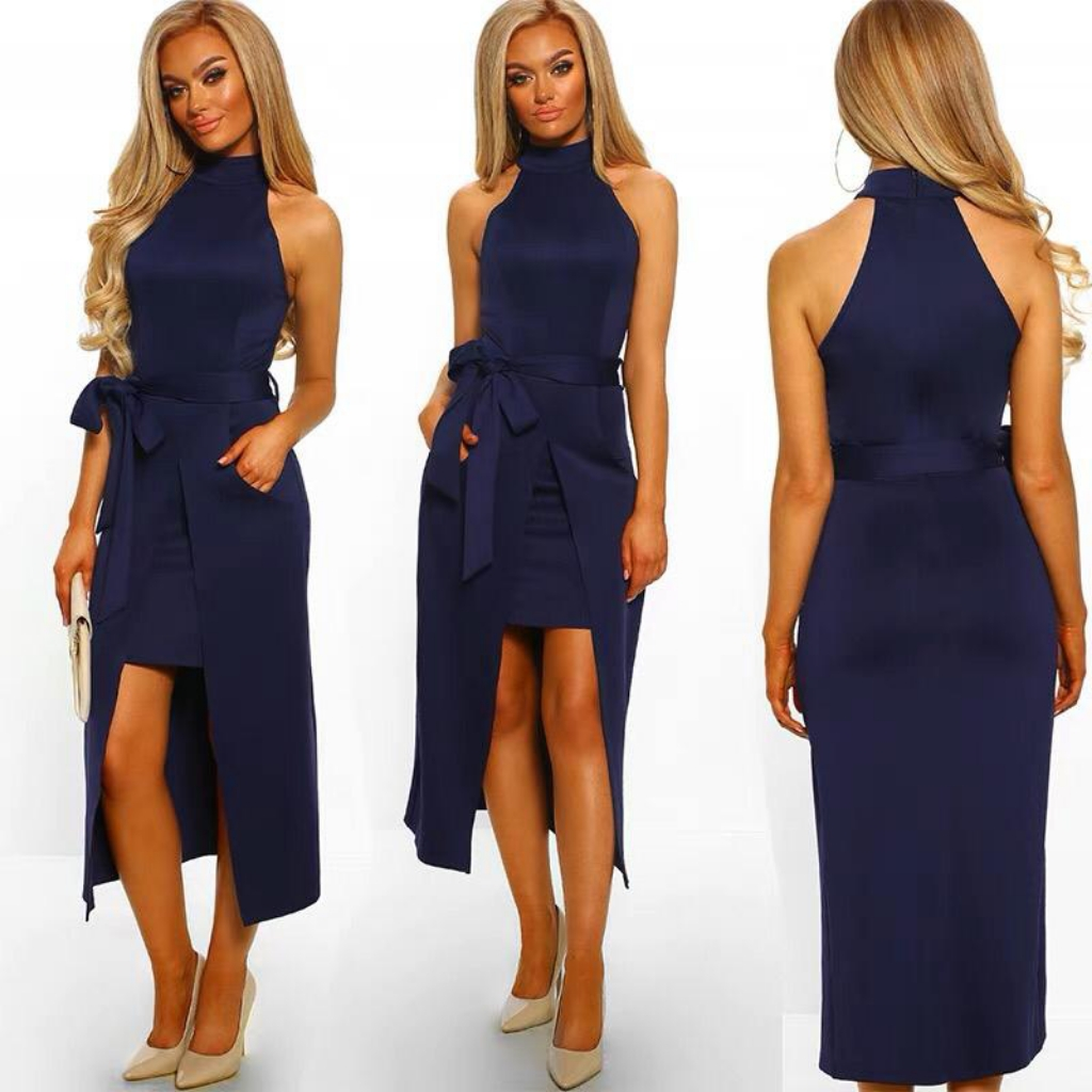 Navy blue casual dress