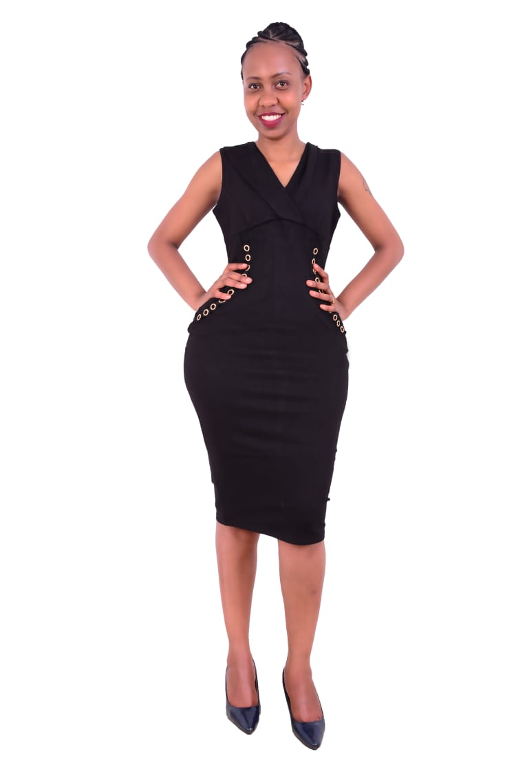 Black official bodycon dress
