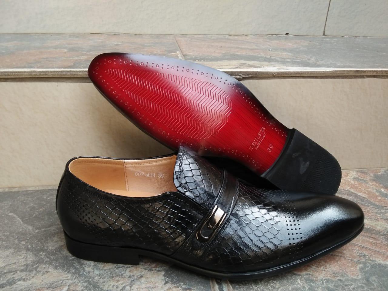 Black official mens shoes
