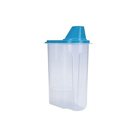 Plastic Kitchen Food Pasta Cereal Grain Storage Container Box - Blue