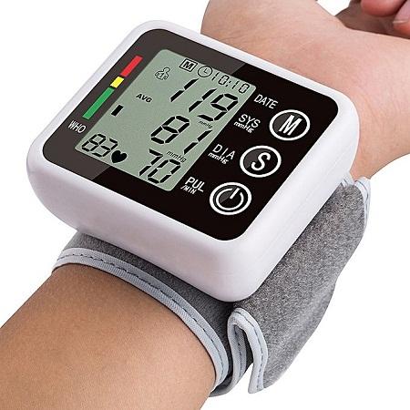 Generic Digital Wrist Blood Pressure Monitor Cuff Check Machine Portable Clinical Automatic - White