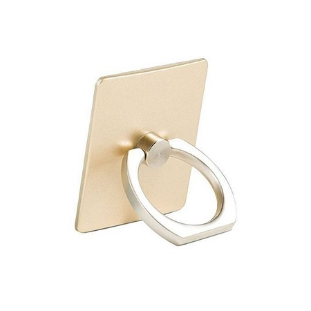 Generic Finger Grip Rotating Ring Stand Holder for Mobile Phones - Gold