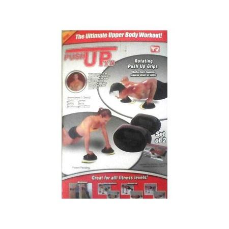 Generic Gym-Rotating Hand Push Up Grips-Black