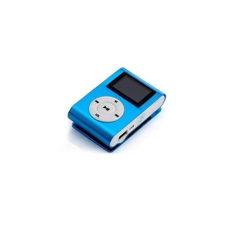 Generic MP3 Player With Display - Blue