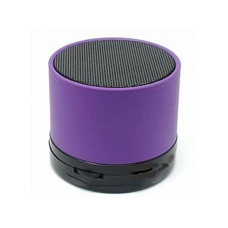Generic Mini Bluetooth Wireless Stereo Speakers FM, Memory Card, Bluetooth, USB - Purple