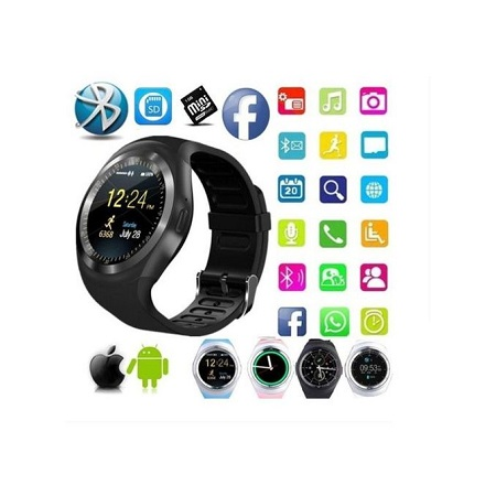 Generic Y1 Smart Watch IOS Android Facebook Touchscreen Smartwatch