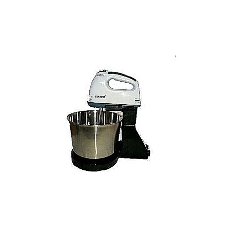 Generic Hand Mixer with Bowl - Black