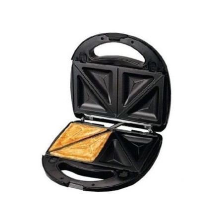He-House 2 Slices Premium Sandwich Maker - Black