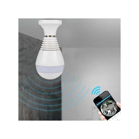 960P Wireless Panoramic IP Camera Bulb Light Wifi FishEye 360 degree Surveillance Security Monitor