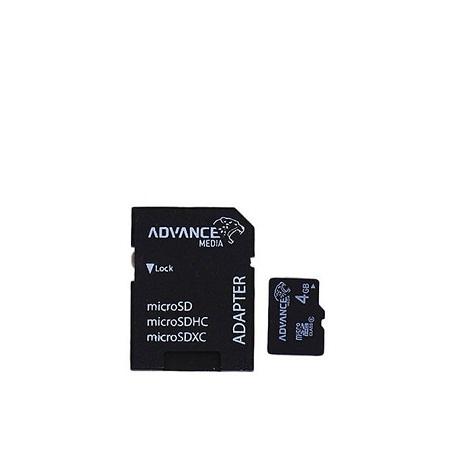 Advance 4GB Micro SD Memory Card -Black