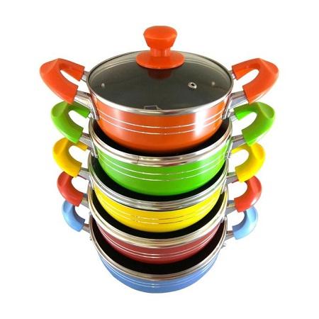 Huochi Heavy Duty Non-Stick Cook Pot Set