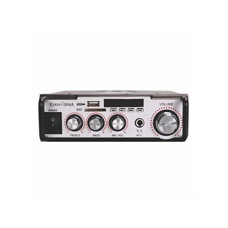Kinter Powerful Hi-Fi Audio Amplifier with FM radio USB SD - 004A