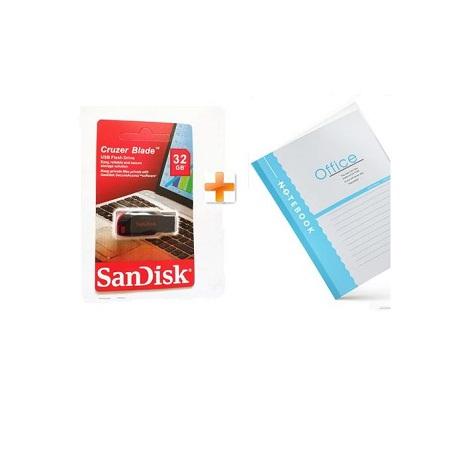 Sandisk Cruzer Blade USB Flash - USB 2.0 - 32GB,Get One Notebook