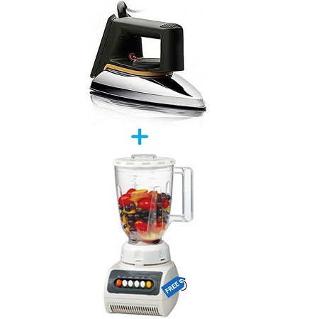Soarin Steam Iron Box + Free Blender