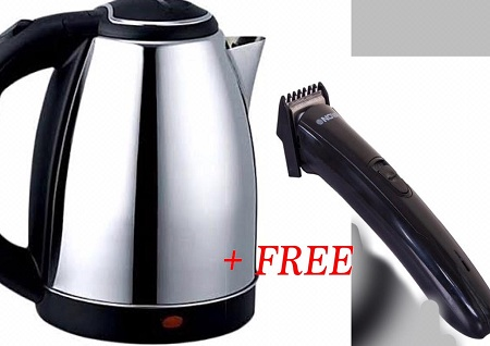 Electric Kettle + Free Hair Trimmer