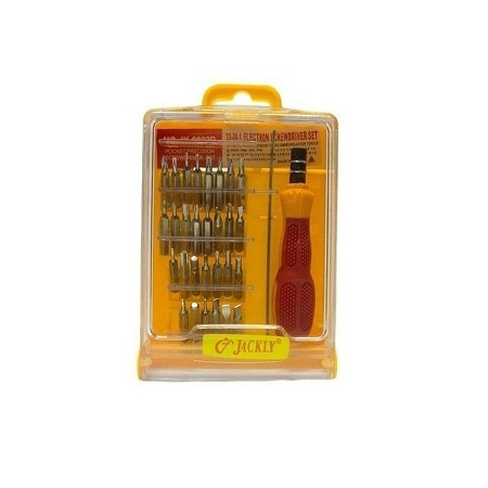 Reliable 32-In-1 Precision Handle Screwdriver Set - Sliver & Yellow