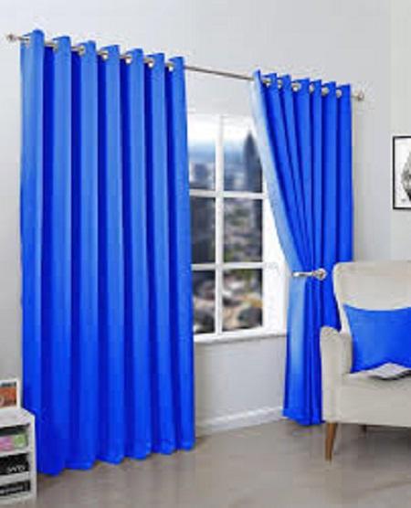 LIGHT BLU Curtain (4M) (2Panels,each 2M) + FREE WHITE SHEER