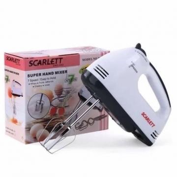 Scarlett 7 Speed Super Electric Hand Mixer- White