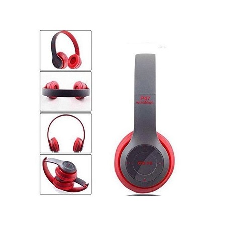 P47 Bluetooth Headphone Wireless Headset Foldable Stereo Earphones Headband Handsfree With Mic Support TF Card FM Radio