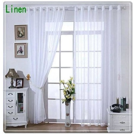WHITE SHEERS For The Window