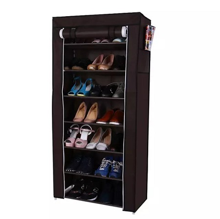 Single column portable shoe rack