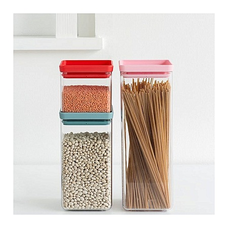 Brabantia 3PC Square Stackable Canisters