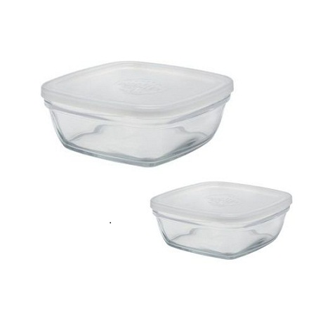 Duralex 2pc Clear Glass Containers