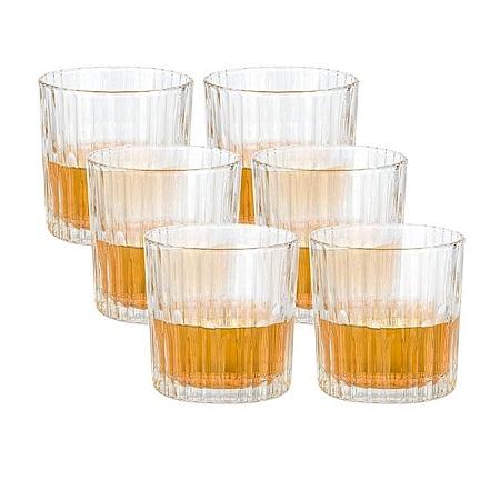 Duralex 6pc Manhattan Whisky Glasses
