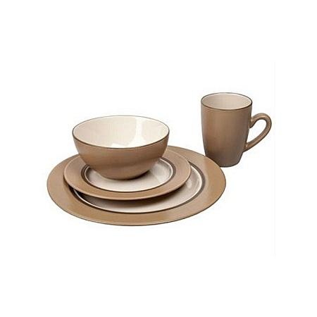 Thomson Pottery 16pc Kensington Latte