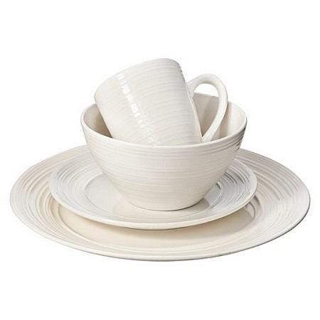 thomson pottery 16pc Ripple White Dinner set