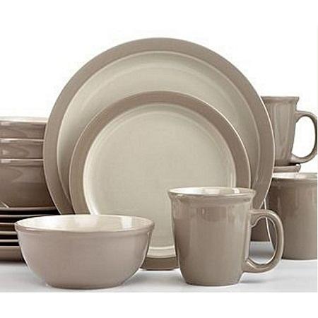 thomson pottery 16pc Dinner set Mali Sesame