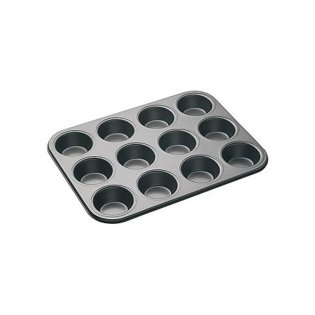 Generic 12-Hole Long Life, Perfect Results ,Silicone & Non-Stick Muffin Or Cupcake Baking Tray /Oven Tray Pan