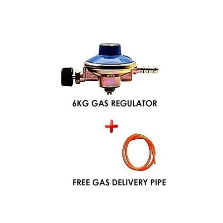 Generic 6kg Gas Regulator Plus FREE Gas Delivery Pipe (for 6Kg Gas Cylinder)