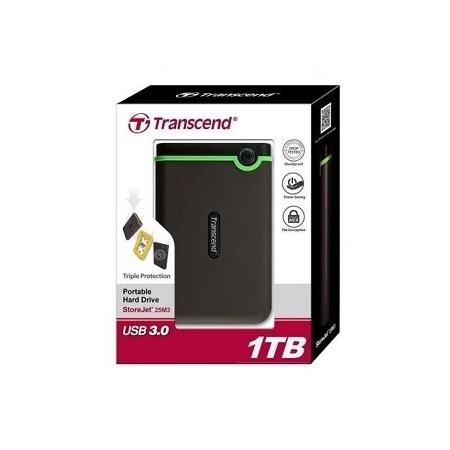 Transcend 1TB - External Hard Drive - USB 3.1 - Black