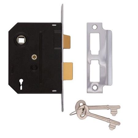 Union 2 lever Door Lock Silver