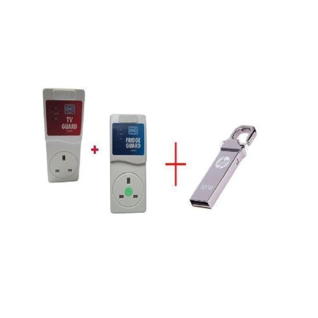 MK Electronics TV Guard +Fridge Guard Mk With FREE 32 GB HPv250w Flash Disk Drive With Clip