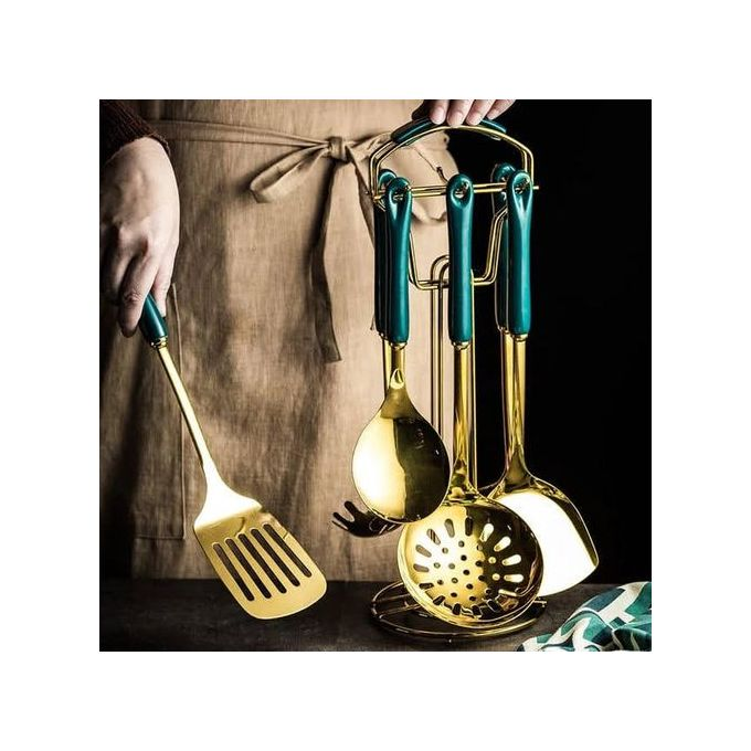 Gold Plated Heavy Duty Golden Serving Spoons