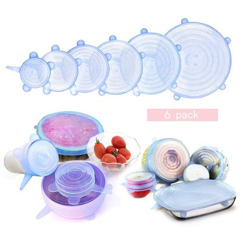 Super Stretch Lids Silicone Bowl Covers Universal Food Covers Lids