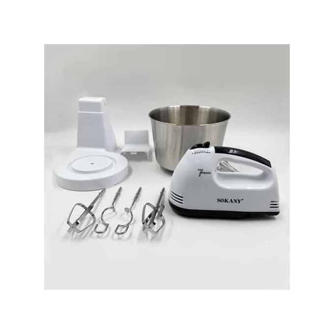 Twin Hand And Stand Mixer With Dough Hooks